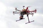 Oktakopter w locie